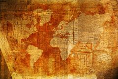 Värld av nyheternabakgrund Arkivbilder