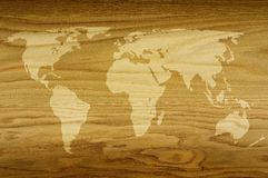 Värld av trä Arkivbild