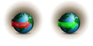 Värld - bred Web_2 Arkivfoton