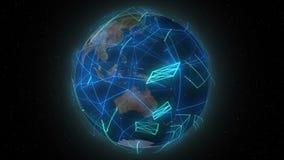 Värld - breda linjer lager videofilmer