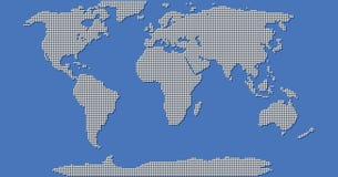 Värld Dot Map Royaltyfri Illustrationer