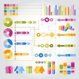 värld för översikt för information om diagraminfographics set Royaltyfri Bild