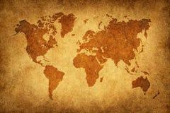 värld för översiktsmodelltappning Royaltyfri Bild