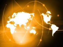 värld för översiktsstilteknologi Arkivbilder