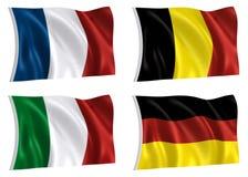 värld för 02 flaggor Royaltyfri Bild