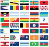 värld för 2 8 flaggor Arkivbilder