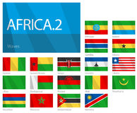 värld för 2 afrikansk för landsflaggor serie för del Royaltyfri Foto