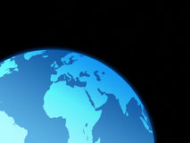värld för 2 jordklot Arkivbild