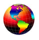 värld för 3 jordklot Arkivbild