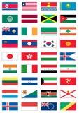 värld för 4 8 flaggor Arkivfoton