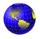 värld för 4 jordklot Arkivbilder