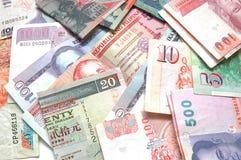 värld för 4 valuta Fotografering för Bildbyråer