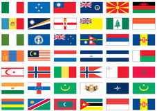 värld för 5 8 flaggor Royaltyfri Bild