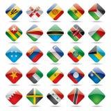 värld för 5 flaggasymboler Royaltyfria Foton