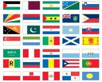 värld för 6 8 flaggor Royaltyfri Fotografi