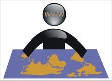 värld för 6 internet Royaltyfri Bild