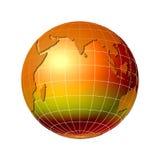 värld för 6 jordklot Arkivbilder
