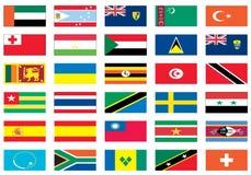 värld för 7 8 flaggor Royaltyfri Bild