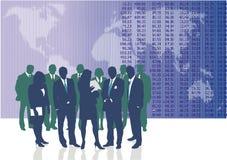 värld för affärsfolk Arkivbild
