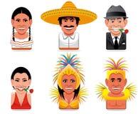 värld för avatarsymbolsfolk vektor illustrationer