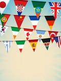värld för bunting flags2 Arkivfoto