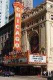 värld för chicago berömd landmarkteater Royaltyfria Bilder