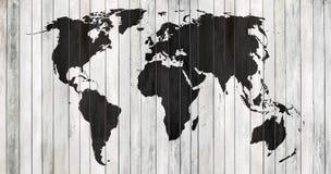 Värld för dragen upp konturerna av översikt royaltyfri foto