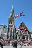 värld för exponering för buskerschristchurch festival Arkivfoton
