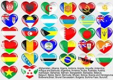 värld för flagga eps10 royaltyfri illustrationer