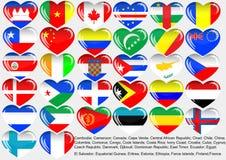 värld för flagga eps10 Arkivfoton