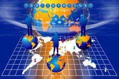 värld för framgång för marknadsföringsplan royaltyfri illustrationer