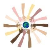 värld för fred 3 vektor illustrationer