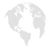 värld för fyrkant för jordklotöversiktspussel Arkivfoto