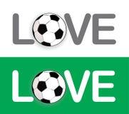 värld för gruppfotbollförälskelse Arkivfoton