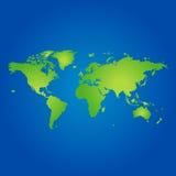 värld för illustrationöversiktsskugga Royaltyfri Fotografi