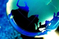 värld för jordklot ii Arkivbilder