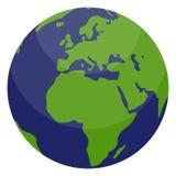 värld för jordklotillustrationavstånd vektor illustrationer
