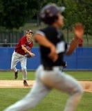 värld för kast för baseballligamaine hög serie arkivfoton