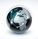 värld för kommunikationsnätverk Royaltyfri Bild