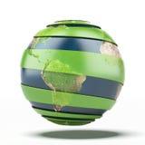 värld för leaf för green för begreppsdroppjord Jordöversikt förutsatt att av NASA Arkivbild