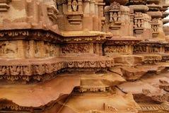 värld för lokal för arvindia khajuraho Arkivbilder