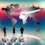 värld för marknadsföringsframgång Fotografering för Bildbyråer