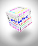 Värld för marknadsföringskommunikation Arkivfoton