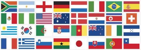 värld för national för 2010 landskoppflaggor Royaltyfri Bild