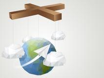 Värld för origamistildocka Arkivbild