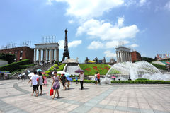 värld för parkshenzhen fönster Fotografering för Bildbyråer