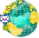 värld för post globe3 Fotografering för Bildbyråer