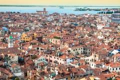 värld för sikt för unesco venice för campanile cityscape di arv marcosan lokal UNESCO Worl Fotografering för Bildbyråer