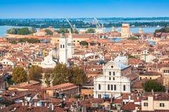 värld för sikt för unesco venice för campanile cityscape di arv marcosan lokal UNESCO Worl Arkivfoto