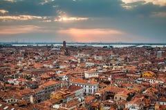 värld för sikt för unesco venice för campanile cityscape di arv marcosan lokal UNESCO Worl Arkivfoton